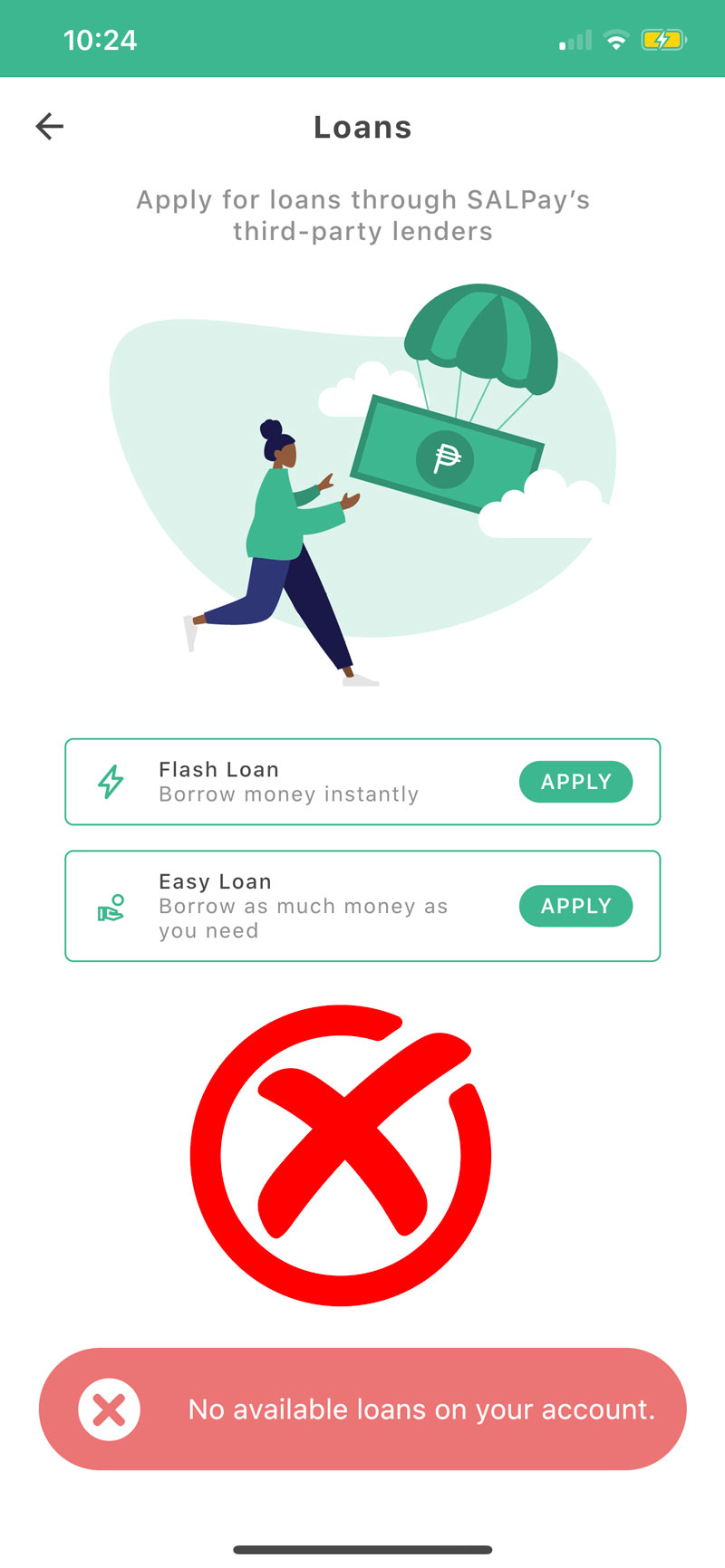 salpay loans not qualify